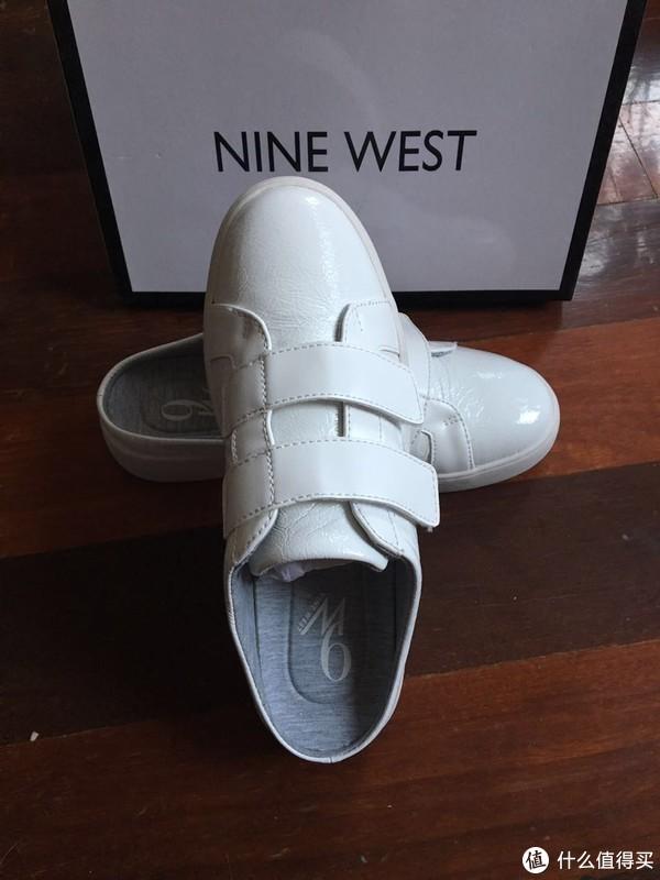 #原创新人#Nine West 玖熙 魔术贴休闲小白鞋开箱