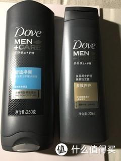 多芬男士 熟悉的味道,清爽的感觉——护理 舒适净爽型 沐浴露+ 多效养护型 强韧洗发露