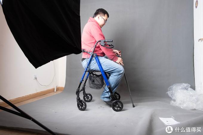 大妈不光给我忽悠瘸了,还给我忽悠傻了——善行者 SunWalker 老人助行器+折叠轻便拐杖