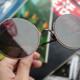 复古新潮流:TAPOLE 3/4 圆形钛框近视墨镜