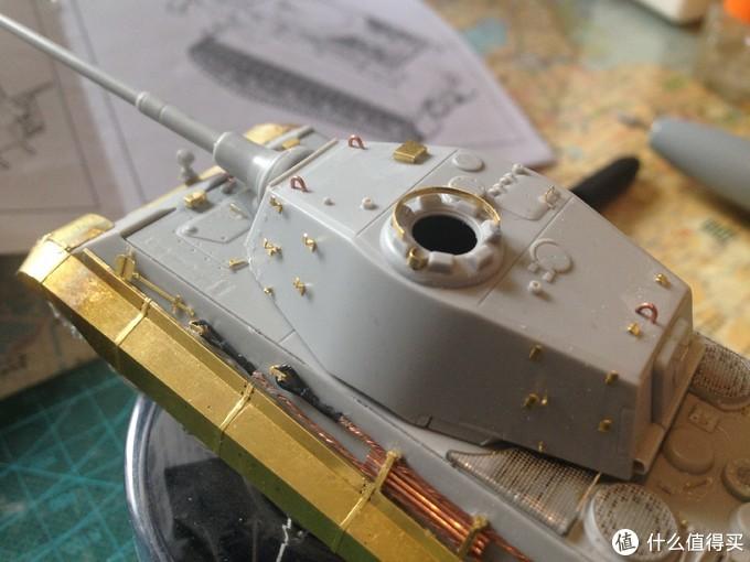 Trumpeter 小号手 1:72 虎王亨舍尔炮塔型 坦克模型 开箱