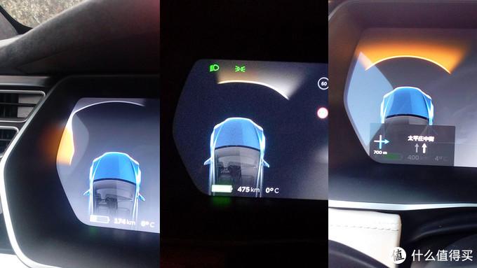 仪表盘也会显示车前方的距离信息