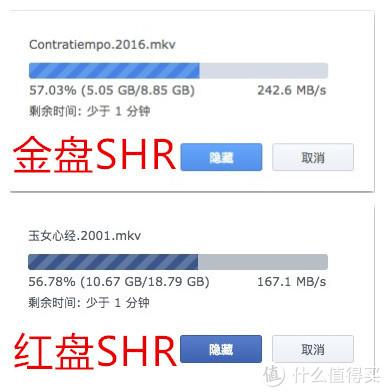 金盘与红盘SHR性能对比