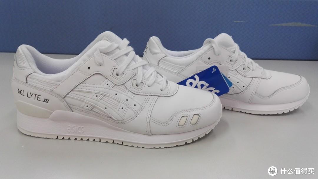 夏日小白鞋之二——asics gel lyte Ⅲ白色运动鞋