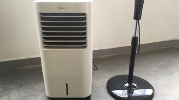 美的AC120-17ARW空调扇外观展示(出风口|操作面板|水箱|万向轮)
