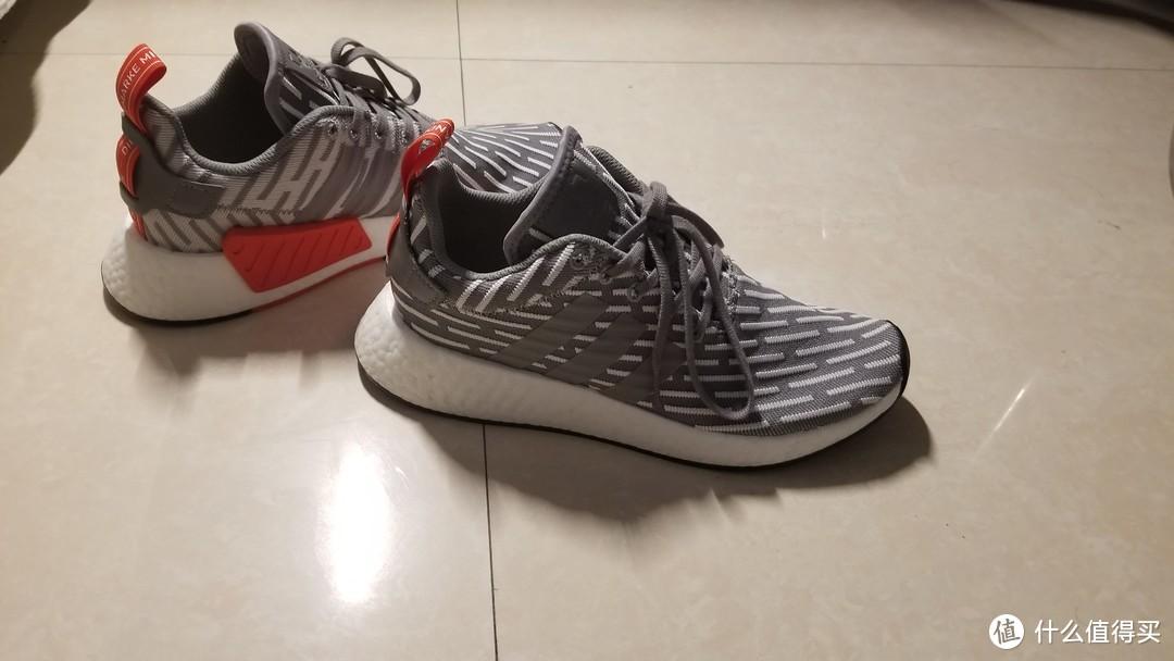 灰白来袭,adidas 阿迪达斯 NMD R2 运动鞋 开箱