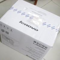 联想 LJ2206W 家用无线激光打印机外观展示(按钮 纸盒 电源线 墨盒 包装)
