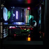 快睿 H7 Quad Lumi LED RGB CPU散热器装机效果(灯效|支架|灯光|散热)