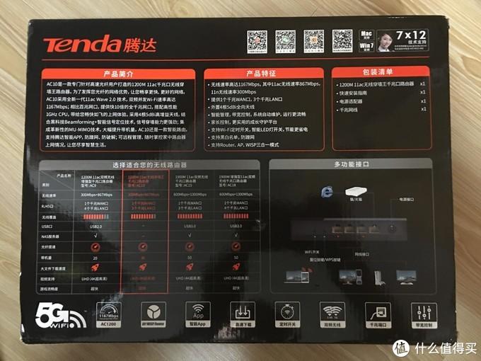 Tenda 腾达 AC10 1200M 无线路由器 开箱简评