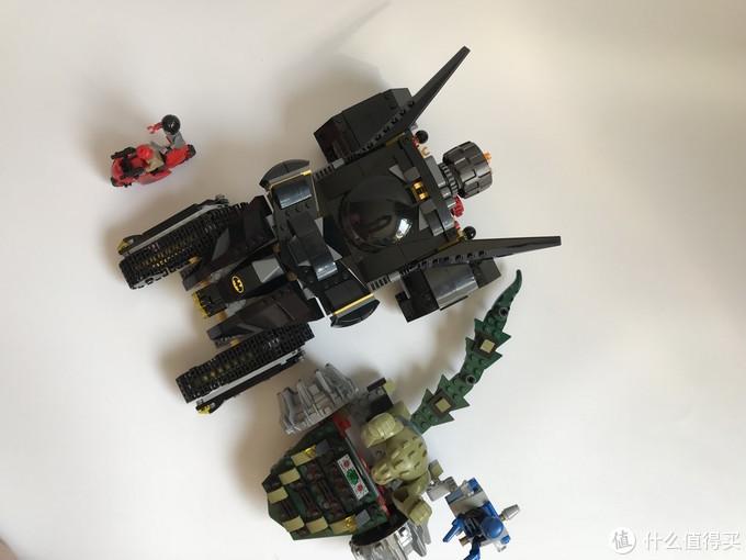 #本站首晒#LEGO 乐高 拼拼乐 — 76055 蝙蝠侠坦克大战杀手鳄绞肉车