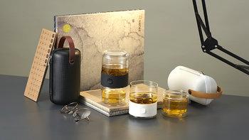 哲品 耐热玻璃茶具套装外观展示(包装|保护套|纽扣)