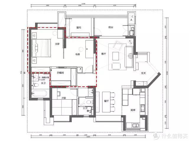 一间永久舒适的房子需要:130㎡、很白、处处阳光、杂物全入柜