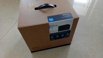群晖 DS916 NAS网络存储服务器开箱设计(网线|适配器|电源线|四盘位|按键)