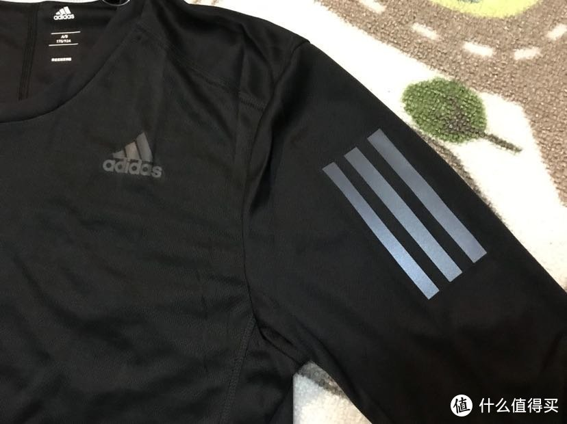 #晒单大赛#Adidas 阿迪达斯 男子跑步长袖反光T恤 开箱