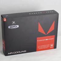 讯景 Radeon RX Vega64 显卡开箱展示(接口|散热片|风扇)