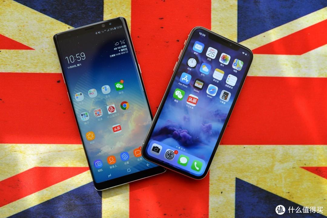 #张大妈漂流计划#地表最强王者之争?SAMSUNG 三星 Note8 VS APPLE苹果 iPhone X 任性对比