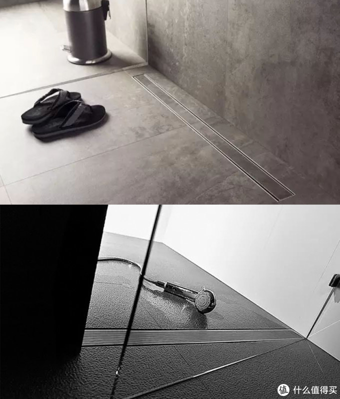 永不积水的淋浴区地面,五星酒店没一个选平铺的!