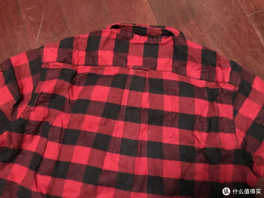 #晒单大赛#MUJI 无印良品 男式 法兰绒格子纽扣领衬衫 晒单