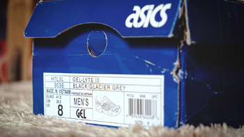 亚瑟士 GEL-Lyte III H7L3L-9096开箱展示(鞋底 鞋舌 鞋面 大底)