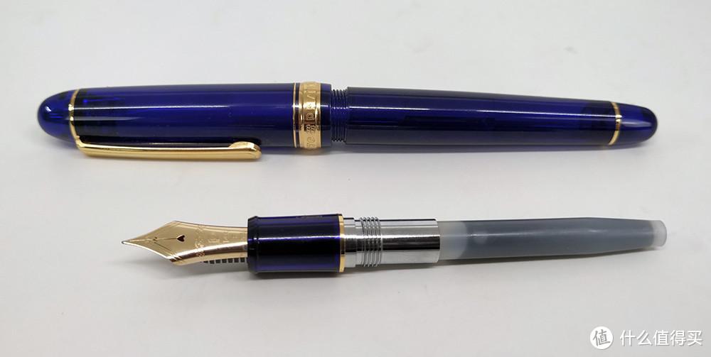 送给男人的礼物,PLATINUM 白金 3776 PNB-10000 教堂蓝 钢笔 开箱