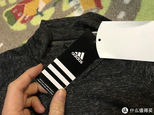 #晒单大赛#一件没有logo的adidas!MLS Tulsa Golden Hurricane长袖速干T恤