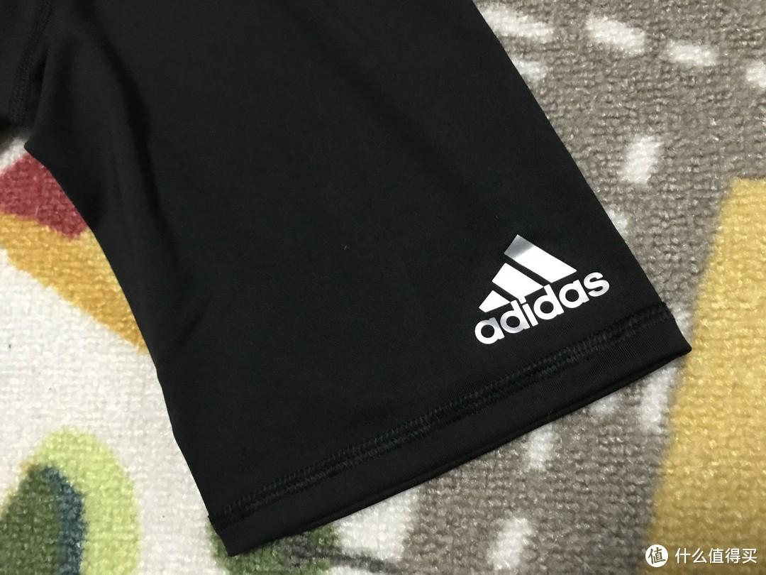 #晒单大赛#Adidas 阿迪达斯 男子训练紧身运动短裤 晒单