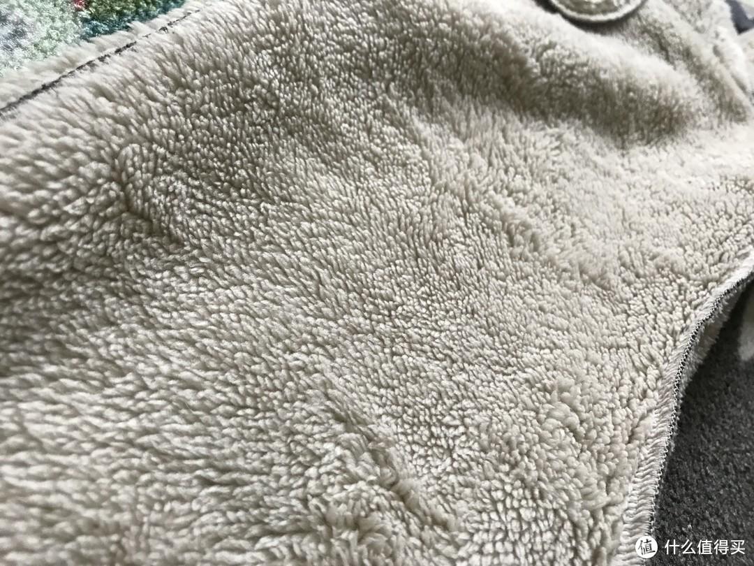 #晒单大赛#UNIQLO 优衣库 儿童仿羊羔绒运动长裤 晒单