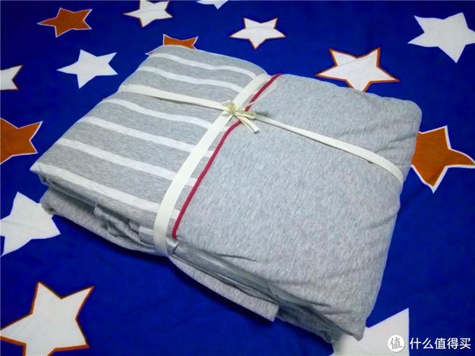 心选好物,暖身又暖心丨淘宝心选 尼特条纹全棉针织床上四件套试睡体验