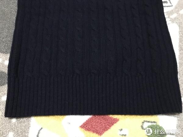 服饰快消品 篇五十:#晒单大赛#MUJI 无印良品 女式美利奴缆绳花纹羊毛衫 晒单