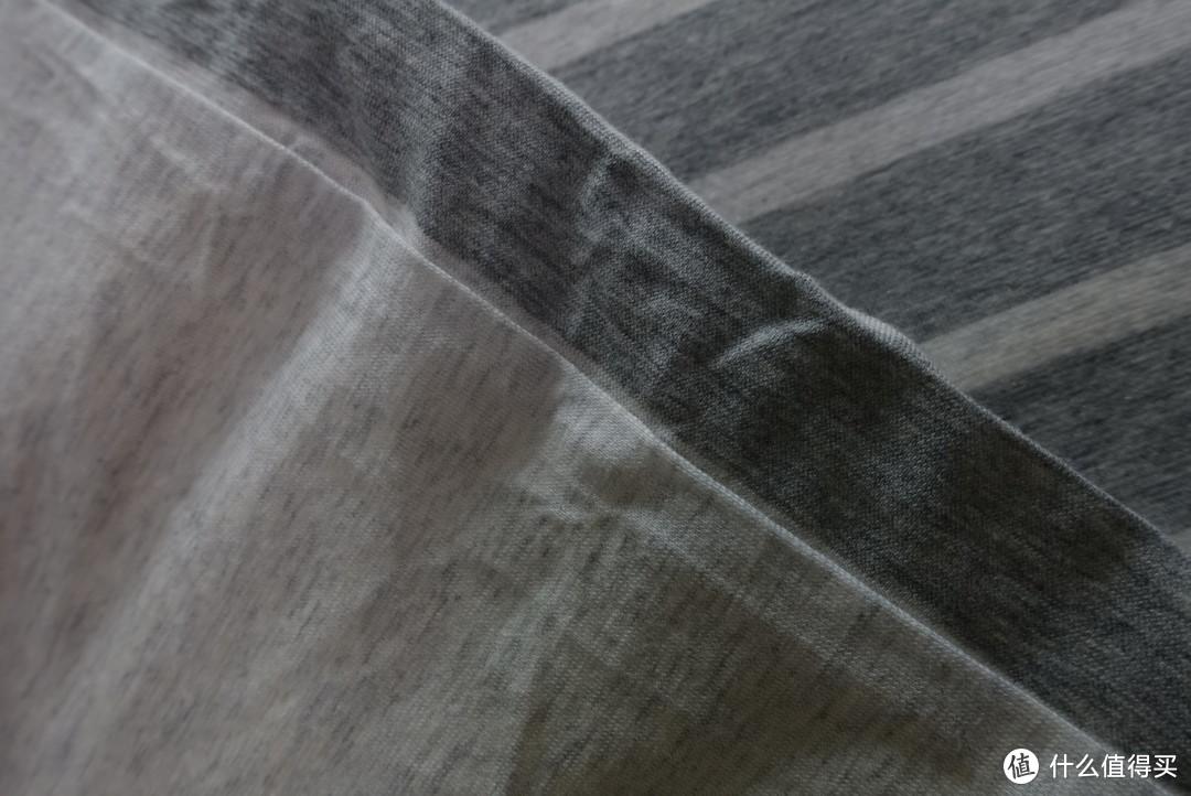 一大波床照——淘宝心选 尼特条纹全棉针织床上四件套