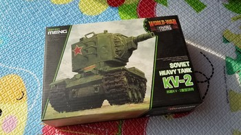 MENG WWT-004 苏联KV-2重型坦克 Q版模型外观展示(图案|板件|导向轮)