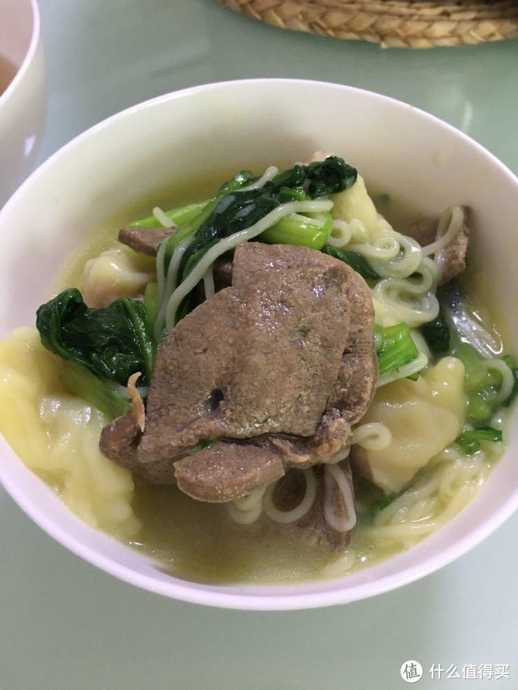 猪肝青菜云吞面