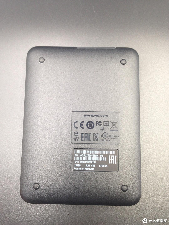 9年后的第二个移动硬盘:WD 西部数据 Elements 新元素系列 2.5英寸 USB3.0 1TB 移动硬盘 开箱