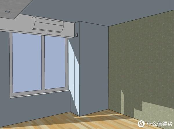 一言不合建个模:简单介绍一下壁挂式空调的背出式安装