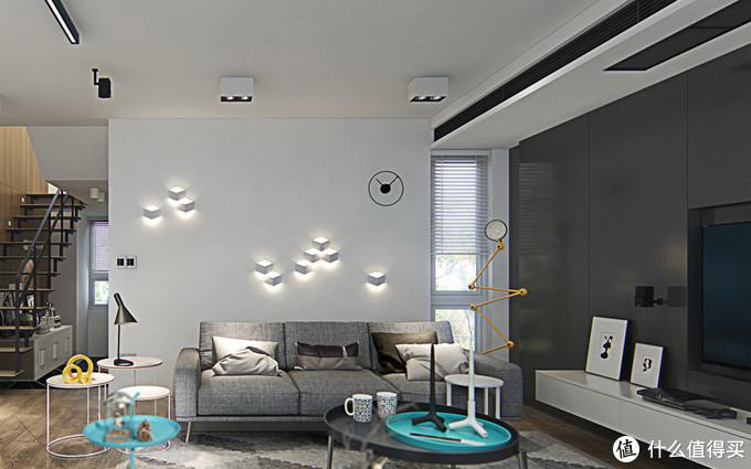 细节08,壁灯造型墙客厅一大亮点