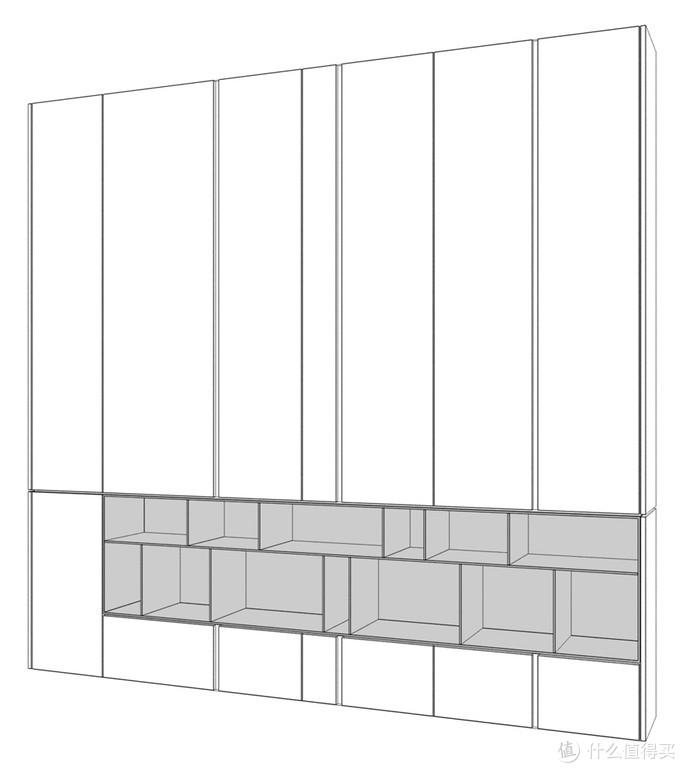 餐边柜造型设计图