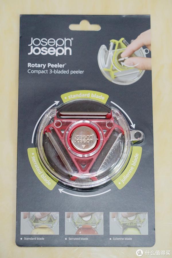 设计灵感让生活更美好:Joseph Joseph 不锈钢多功能3合1多用削皮器 晒单