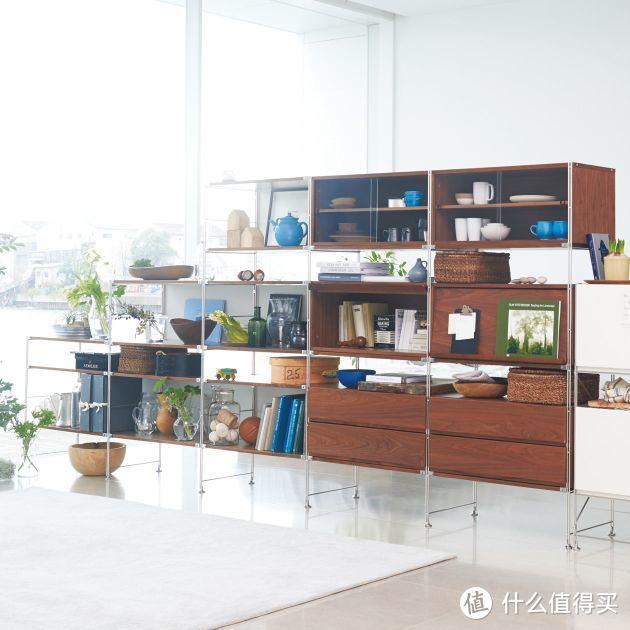 黑胡桃色比较适合用于客厅收纳