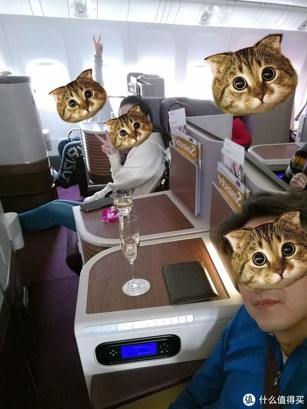 波音777新机头等舱,一排四个位子,很宽敞