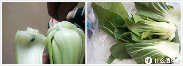 蔬菜上如果有蓝色颗粒,吃下去的后果不堪设想!