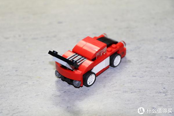 小set一样有乐趣—LEGO 乐高 百变三合一系列 31055 红色小跑车 开箱