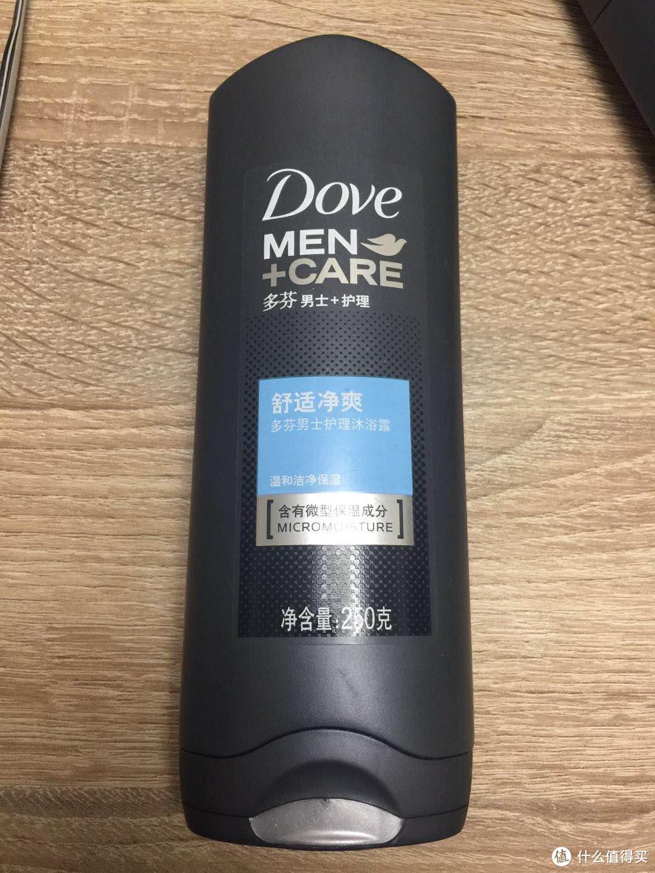 【轻测】多芬男士+护理 舒适净爽型 沐浴露 250ml + 多效养护型 强韧洗发露 200ml