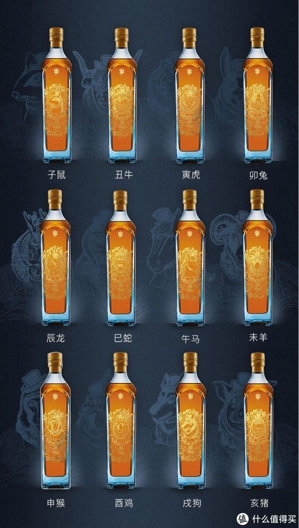 现代版买椟还珠,蓝方十二生肖晒单:JOHNNIE WALKER 尊尼获加 洋酒 蓝牌十二生肖限量版