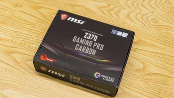 微星Z370 GAMING PRO CARBON AC主板外观展示(接口|散热片|供电口)