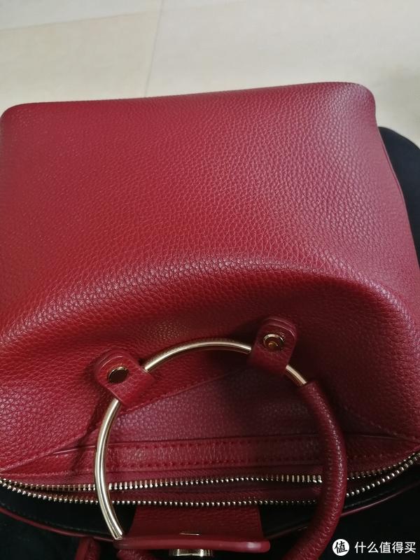 #原创新人#人生中第一个辣油红包包:PACOTORA 柏高图拉 手提包 酒红色