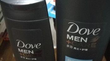 轻众测-多芬男士护理 舒适净爽型 沐浴露 250ml + 多效养护型 强韧洗发露 200ml