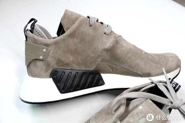 我今天又买了一双鞋 篇六:Adidas 阿迪达斯 Originals NMD C2 Suede 翻毛皮棕色款 运动鞋 开箱晒单