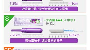 丹碧丝 Radiant Plastic 幻彩系列 导管式 隐形卫生棉条外观展示(规格|开口|体积|导管|花纹)