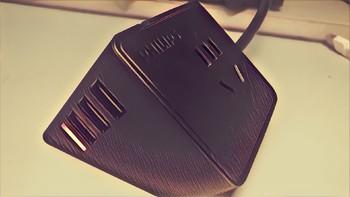 黑色又有点蜜汁可爱的usb插座?飞利浦便携迷你桌面旅行插座