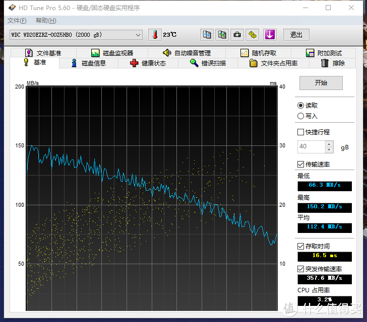 台机硬盘5400&7200差别有多大:WD 西部数据 蓝盘 2TB & TOSHIBA 东芝 P300系列 2T对比评测